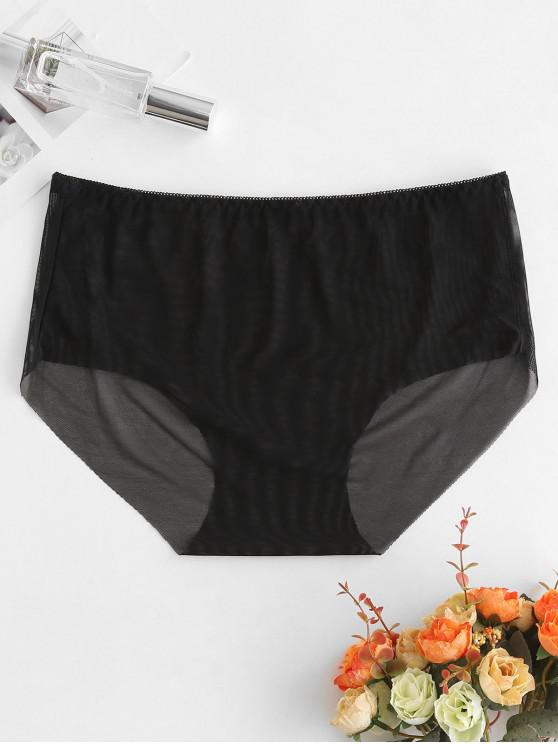 shops Seamless Mesh See Thru Briefs - BLACK L