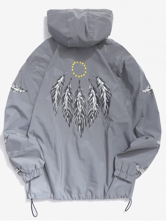 chic Feathers Reflective Light Jacket - GRAY XS