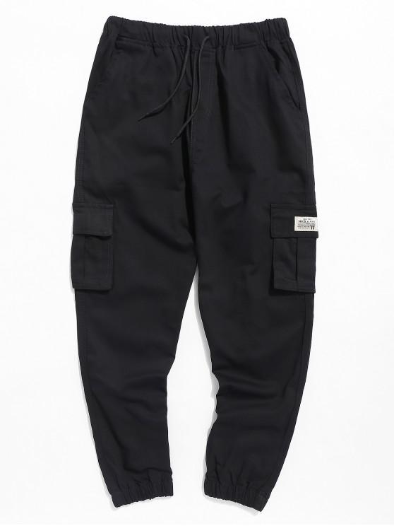 Pantaloni Da Jogging Casuali Con Tasca E Coulisse - Nero 3XL