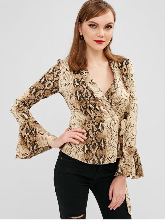 Blusa estampada con estampado de serpientes - Multicolor-A M