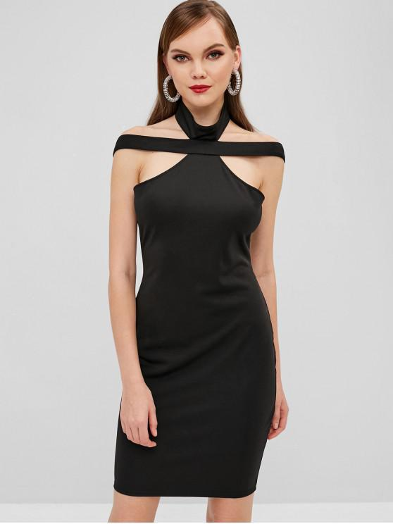 best Mini Cut Out Bodycon Dress - BLACK M