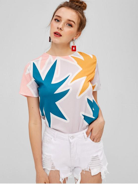 lady Leaf Short Sleeve T-shirt - MULTI L