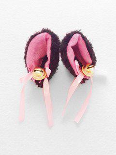 Tinkle Bell Bowknot Cat Ears Headwear - Black