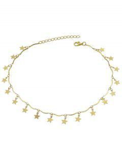 Elegant Star Decoration Alloy Necklace - Gold