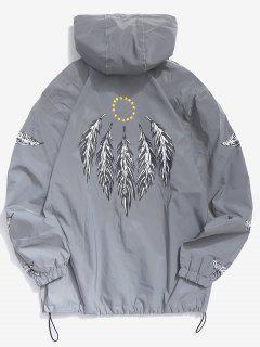 Feathers Reflective Light Jacket - Gray S