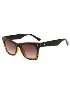 Butterfly Shape Classic Sunglasses - Brown
