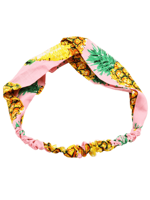 new Pineapple Printed Bohemia Style Headband - PINK  Mobile