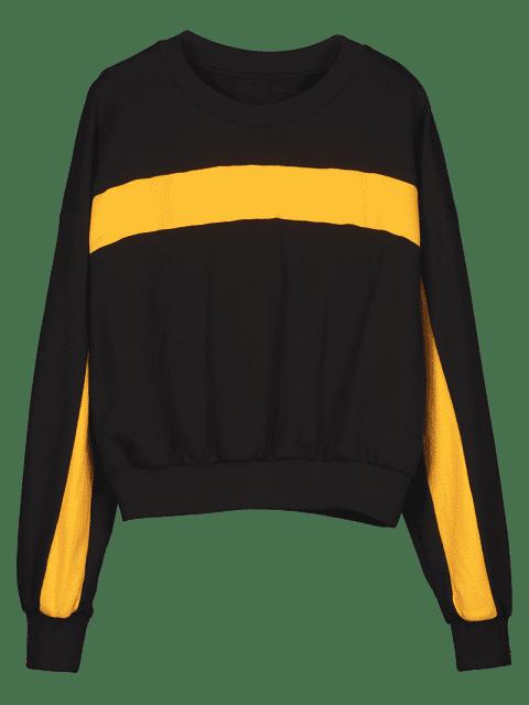 fancy ZAFUL Contrast Two Tone Sweatshirt - BLACK XL Mobile