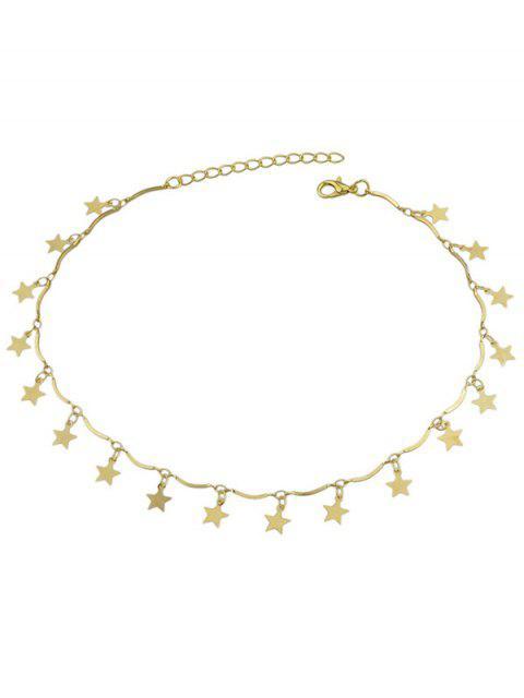 fashion Elegant Star Decoration Alloy Necklace - GOLD  Mobile