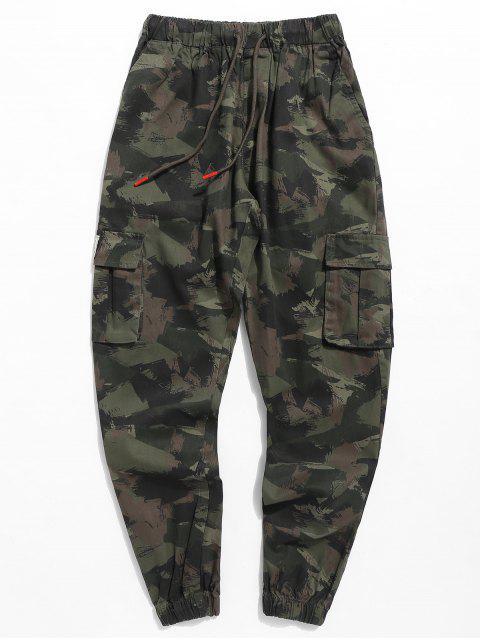women Camo Letter Jogger Pants - ARMY GREEN 3XL Mobile