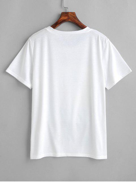 fancy Graphic Tee - WHITE M Mobile