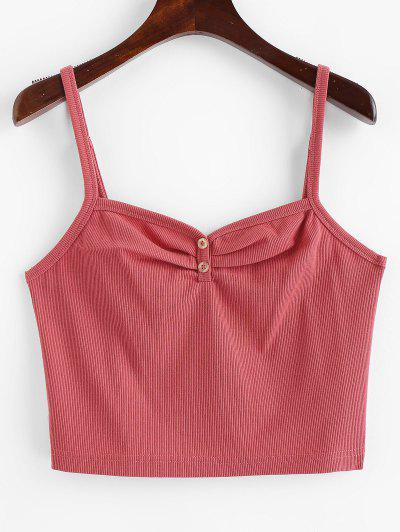 ZAFUL Ruched Buttoned Tank Top