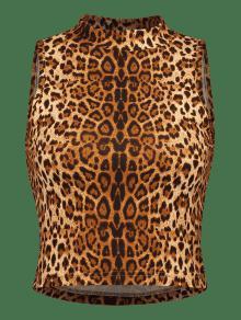 4d13531ec103e 18% OFF  2019 Leopard Print Crop Tank Top In LEOPARD