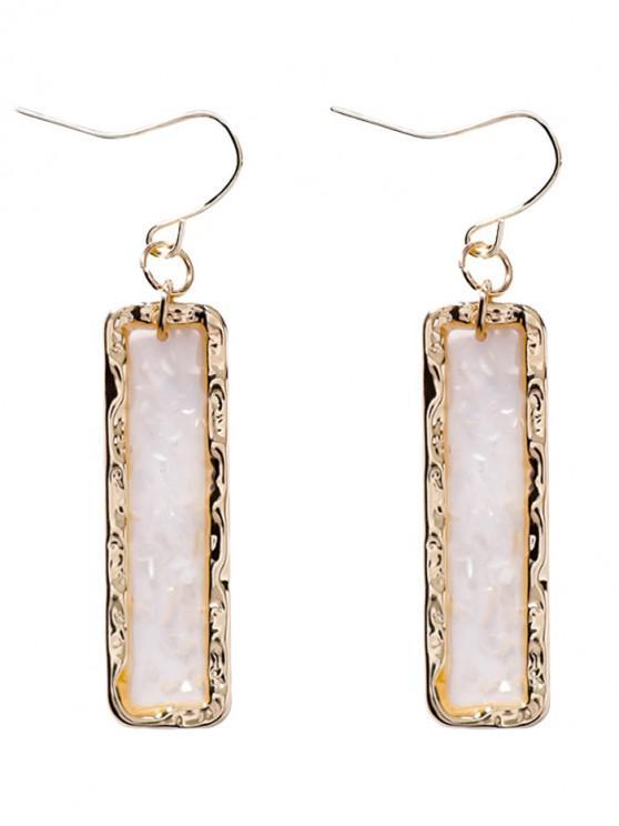 shop Shiny Rectangle Dangle Earrings - GOLD