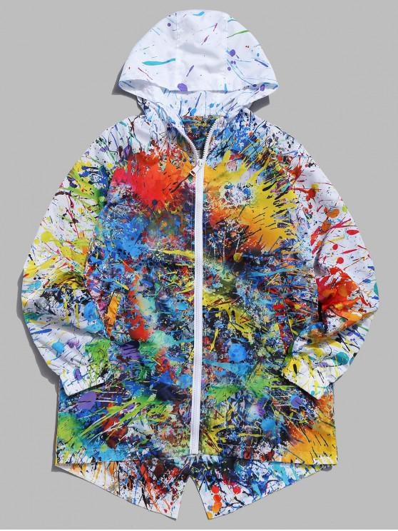shops Abstract Painting Windbreaker Jacket - MULTI-A M