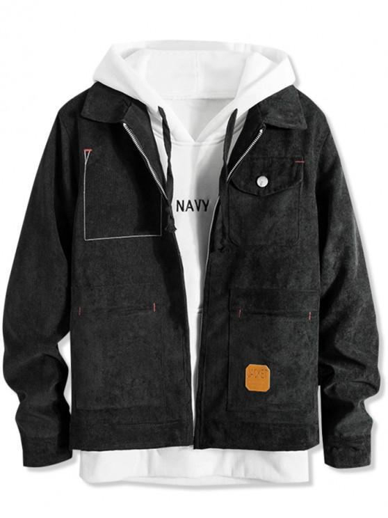Taschen Corduroy Zipper Jacket - Schwarz XL