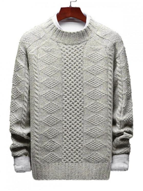 Maglione Geometrico - Bianco caldo XS