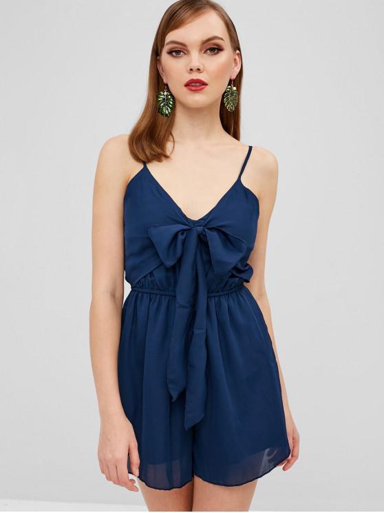 sale Cami Tie Front Romper - MIDNIGHT BLUE M