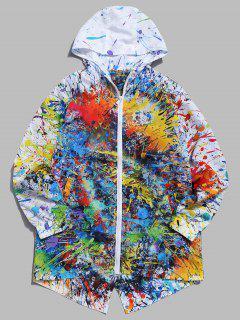 Veste Coupe-vent De Peinture Abstraite - Multi-a M