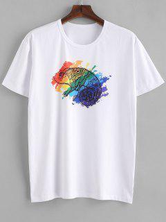 Animal Printed T-shirt - Milk White S