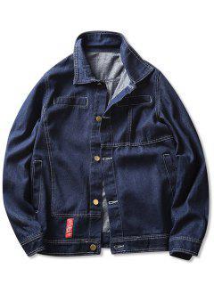 Contrast Stitched Denim Jacket - Blue M