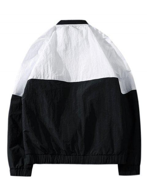 Veste en Blocs de Couleurs avec Poches - Noir M Mobile