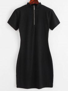 ZAFUL مضلع نصف الرمز BODYCON اللباس - أسود S