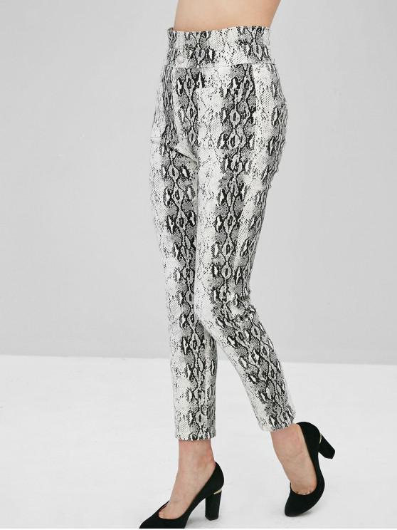 lady Snake Print Skinny Pants - MULTI L