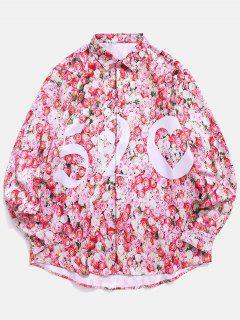 Chemise Fleurie Imprimée Saint Valentin - Rose Léger  2xl