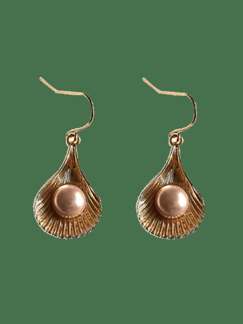 online Vintage Shell Pearl Dangle Earrings - CHAMPAGNE GOLD  Mobile