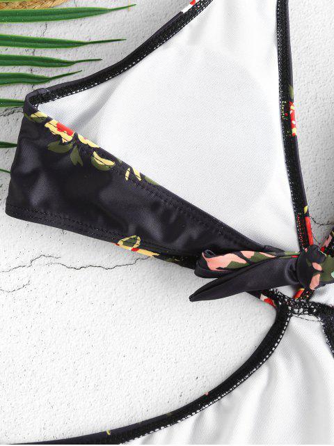 ZAFUL Maillot de Bain Monokini Fleur à Col Halter - Noir S Mobile