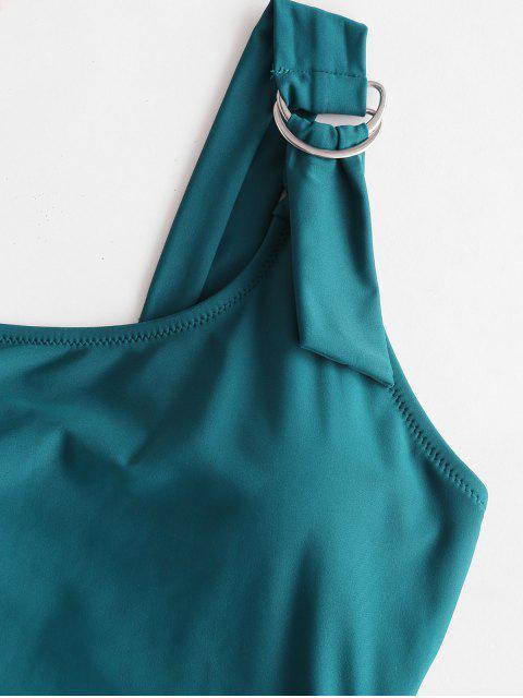 ZAFUL Traje de baño de pierna alta para un solo hombro - Azul Eléctrico 2XL Mobile