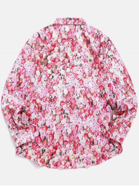 Camisa de San Valentín con estampado floral - Rosa Claro S Mobile