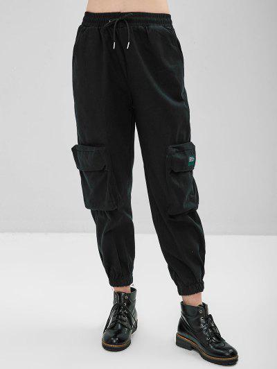 Drawstring Waist Jogger Pocket Pants