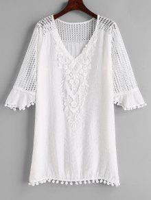 فستان كروشيه بوم بوم - أبيض L