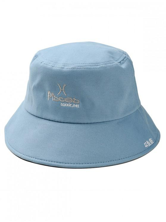 2019 Character Embroidered Bucket Hat In LIGHT BLUE  90bb171feca