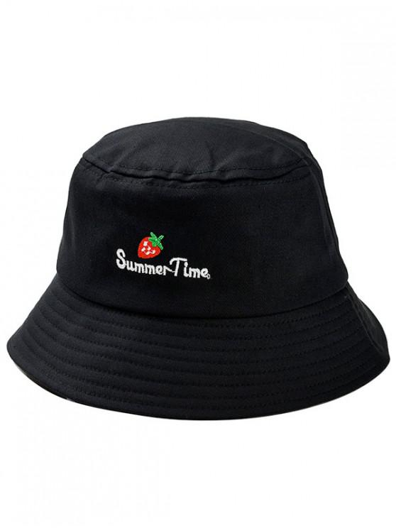 94555257 26% OFF] 2019 Strawberry Embroidered Bucket Hat In BLACK | ZAFUL