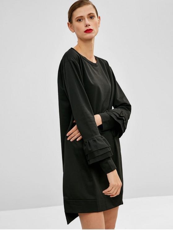 Slit High Low Casual Dress - Black L | ZAFUL