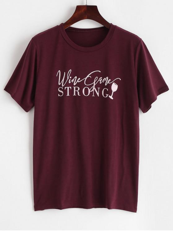 T-shirt graphique en coton résistant - Brique Réfractaire S