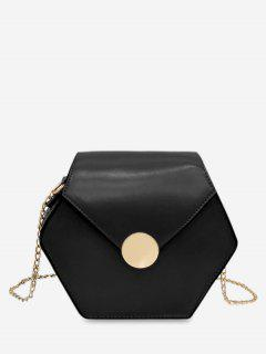 Hexagon Chain Bag - Black