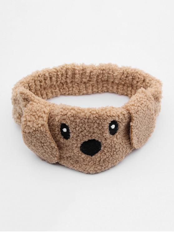 new Fuzzy Dog Face Hairband - BROWN