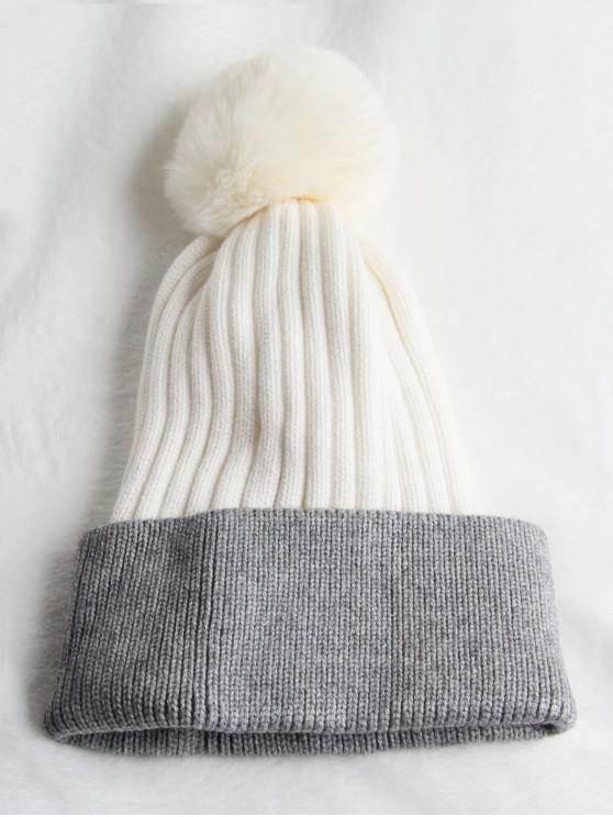 f48b332daba 25% OFF  2019 Winter Fuzzy Ball Hat In WHITE