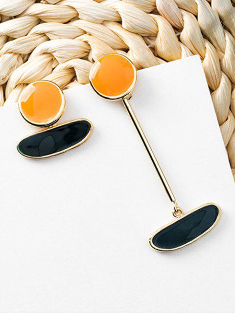 buy Irregular Shape Asymmetric Earrings - YELLOW  Mobile