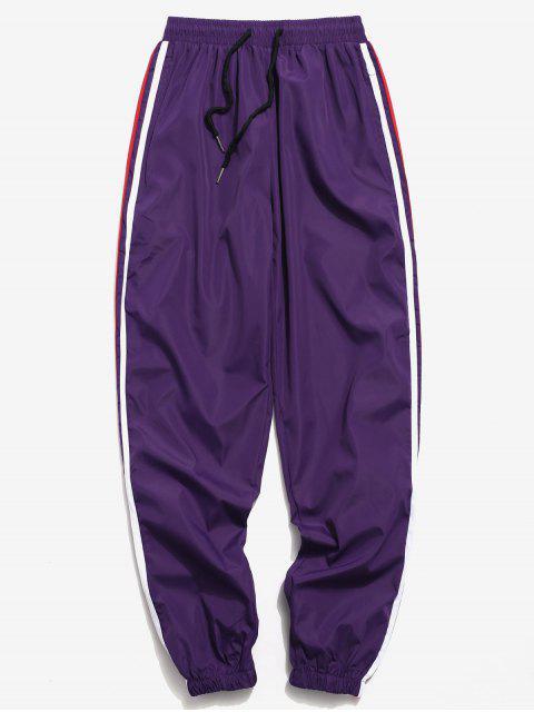 サイドレターストライプジョガーパンツ - 紫の S Mobile