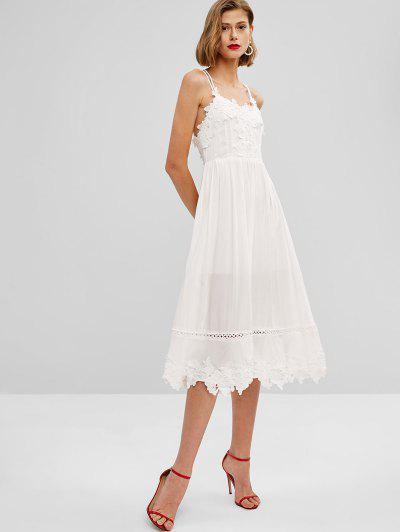 f433e42bf13 Strappy Open Back Criss Cross Midi Dress - Milk White M ...