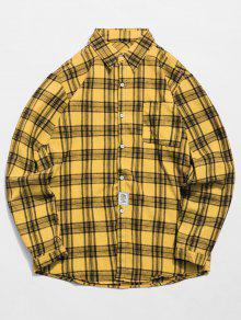قميص الجيب الترتان - الأصفر S