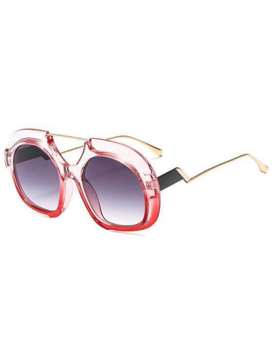 2019 Óculos De Sol Redondos à Moda De Tamanho Grande em Rosa   ZAFUL BR 56138fc835