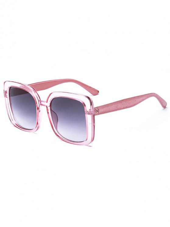 lady Oversize Retro Square Sunglasses - PINK