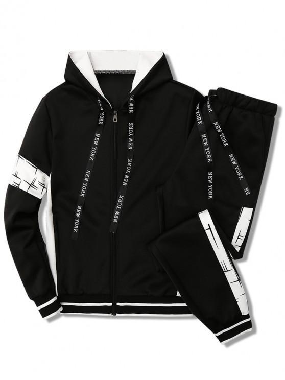 Sweat à capuche et pantalon - Noir XS