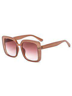 Oversize Retro Square Sunglasses - Brown
